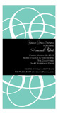 Teal Swirls Invitation