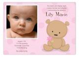 Teddy Bear with Flower Photo Card