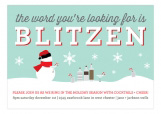 The Word Is Blitzen Invitation