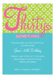 Thirty Something Invitation