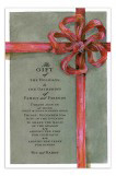 Tied Taupe Invitation
