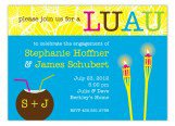 Tiki Torch Luau Invitation