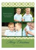 Tiled Green Photo Card