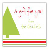 A Gift for You Tis The Season Square Gift Stickers