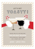 Toasty Santa African American Invitation