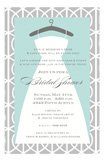 Trellis Dress Gray and Turquoise Bridal Luncheon Invitations
