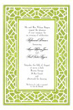 Trellis Green Invitation
