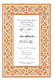 Trellis Orange Invitation