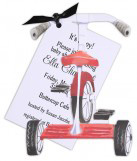 Tricycle Unique Baby Shower Invitations