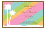 Tropical Bliss Rainbow Palm Tree Invitations