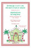 Tropical Candy House Invitation