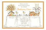 Turkey Table Fall Party Invitations