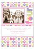 Turning Four Soft Pastels Photo Card