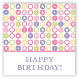 Turning Four Soft Pastels Square Sticker