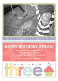 Turning Three Photo Card