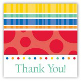 Turning Three Primary Colors Gift Tag