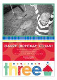 Turning Three Primary Colors Photo Card