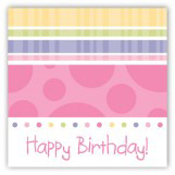 Turning Three Soft Pastels Gift Tag