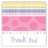 Turning Three Soft Pastels Square Sticker