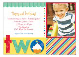 Turning Two Primary Colors Photo Card