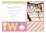 Turning Two Soft Pastels Photo Card