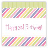 Turning Two Soft Pastels Square Sticker