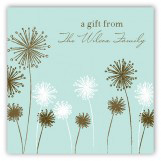 Turquoise Flowers Gift Tag