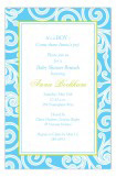 Turquoise Garden Swirls Invitation