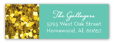 Turquoise Glitter Sixteen Address Label