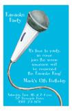 Turquoise Karaoke Invitation