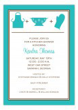 Turquoise Kitchen Silhouettes Invitation