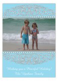 Turquoise Medallion Photo Card
