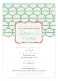 Turquoise Mod Circles Invitation