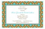 Turquoise Tile Pattern Invitation