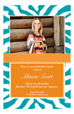 Turquoise Zebra Photo Card