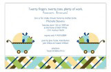 Twin Boy Carriage Gifts Invitation