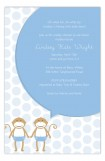 Twin Boy Monkey Pals Invitation