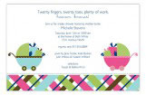 Twin Carriage Gifts Invitation