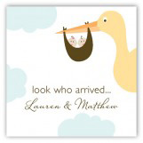 Twin Stork in the Sky Gift Tag