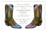 Two-Boot Couples Party Invitation