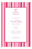 Valentine Stripe Invitation