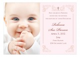 Victorian Cross Pink Photo Card