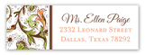 Vintage Fall Khaki Lattice Address Label