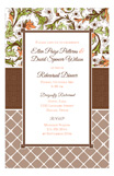 Vintage Fall Khaki Lattice Invitation