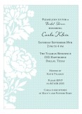 Pale Blue Polka Dot Vintage Floral Invitation