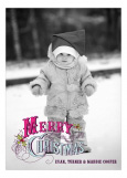 Vintage Merry Christmas Bright Photo Card
