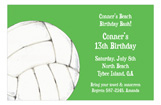 Volley Ball Kids Birthday Invitations