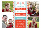 Warm Winter Wishes Collage Photo Card