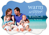 Die-Cut Bracket Warm Winter Wishes Family Photo Card