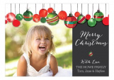 Watercolor Ornaments Photo Card